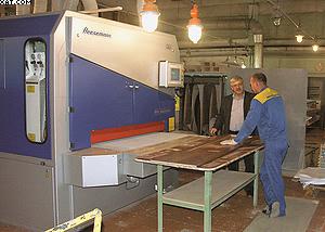Шлифовальный станок проходного типа Heesemann MFA Impression на «Миассмебель»