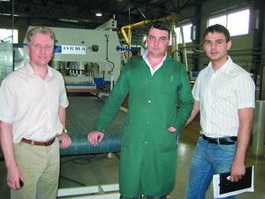 Вадим Крючков (Ormamacchine), Дмитрий Власов (ЗДИ), Борис Чернышёв (SCM Group)