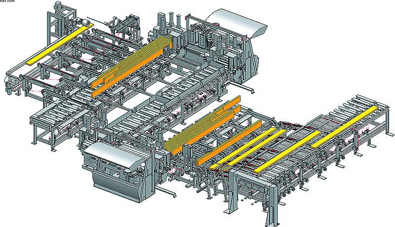 Высокопроизводительная линия шипового сращивания Turbo-LH на заводе компании Lilliheden