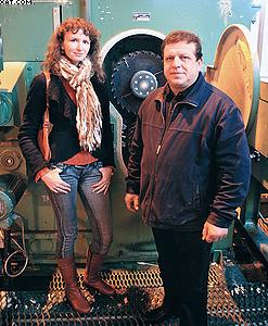 Генеральный директор журнала «ЛесПромИнформ»  Светлана Яровая и Владимир Воробьев