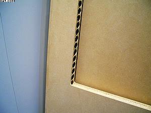 Рис. 2. Заготовка двери с проемом под остекление, изготовленная из древесно-стружечной плиты экструзионного прессования