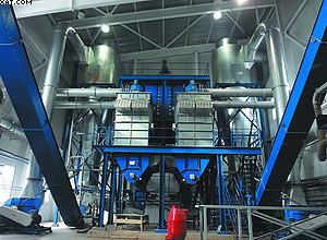 Выгрузка измельченного сырья для производства пеллет из дробилок осуществляется шнековыми конвейерами и пневмотранспортной системой. ЛПК «Аркаим»