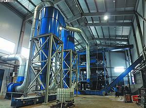 Участок измельчения сырья пеллетного производства на ЛПК «Аркаим»