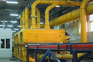 Шлифовальный станок в цехе ДСП ЛПК «Аркаим»