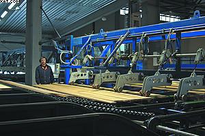 Линия сортировки пиломатериалов производства компании Jartek на ЛПК «Аркаим»
