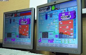 Визуализация системы управления сжиганием топлива в котельной Polytechnik на ЛПК «Аркаим»