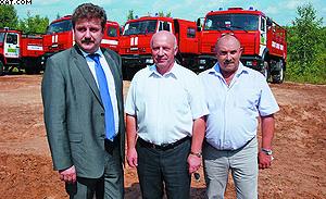 Слева направо: Алексей Эглит, Александр Василевский и Сергей Федоров