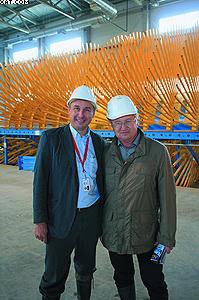 Валерий Валерьевич Пучков, директор ДОК «Калевала» и Николай Иванович Конищев, заместитель генерального директора по строительству