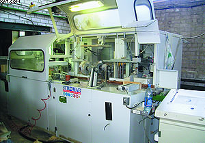 Отдельные элементы домокомплектов вырезаются на современном станке Stromab Blox Auto