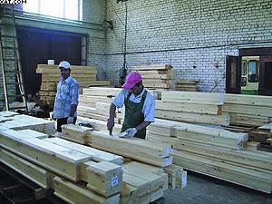 Подготовка очередного комплекта деревянного коттеджа