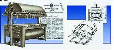 Рис. 3. Вакуумный пресс, запатентованный фирмой Friz в 1937 году