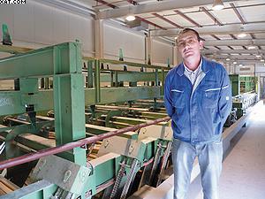 Андрей Вихров, управляющий директор ОАО «Тернейлес» по производству пиломатериалов, около сортировочной линии Springer