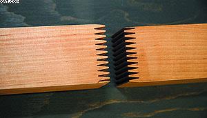 Рис. 1. Фрагмент заготовки с зубчатым клеевым соединением