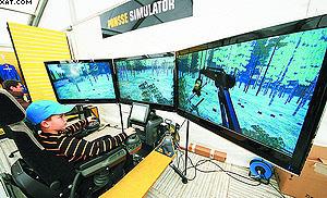 Обучающий симулятор для операторов харвестеров Ponsse
