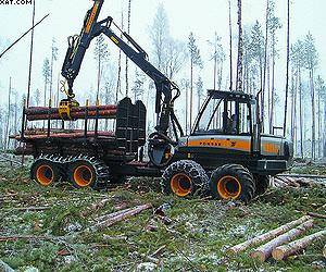 Для заготовки леса используются форвардеры Ponsse