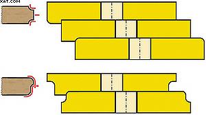 Рис. 1. Примеры участков сечения профилей и сечения инструмента для обработки этих профилей