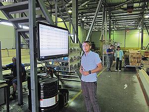 На таких мониторах отображается ход всех технологических процессов, которые идут на предприятии