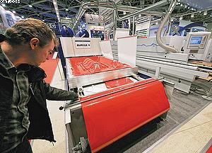 Оборудование для облицовывания гнутых поверхностей Burkle