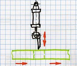 Вертикальный нож для разделения заготовок