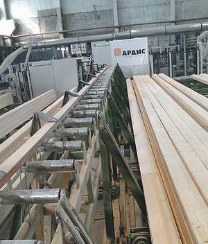 На заводе «АРДИС» производят высококачественный клееный брус длиной 20 м