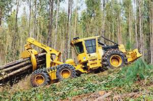 6-колесный скиддер Tigercat