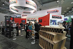 Стенд компании Minda на Ligna 2013