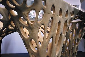 Дизайнерский стол на стенде CSM-Group на выставке Ligna 2013