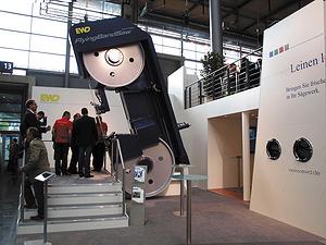 Ленточнопильный станок EWD EBB 1800 R с технологией Flying BandSaw на выставке Ligna