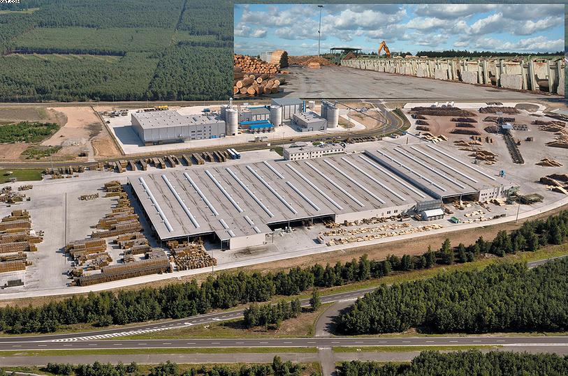 Аэрофотоснимок завода Stelmet в Польше