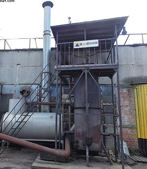Газогенератор и бак-расширитель электрогазо-генераторной ТЭС завода «Интерреммаш»