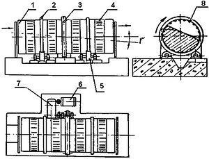 Рис. 1. Схема окорочного барабана