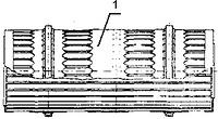Рис. 3. Открытая секция корообдирочного барабана (из отдельных обечаек)