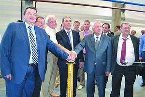 Церемония торжественного запуска производства на ДОК «Калевала»