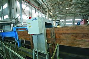 Металлодетекторы фирмы Cassel на ленточном конвейере стружечного станка