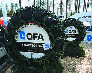 Цепи Ofa для шин лесозаготовительной техники