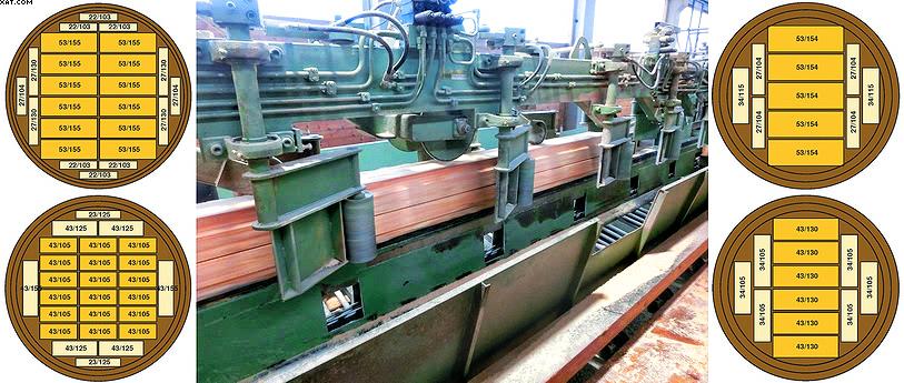 Делительная пила для боковой доски в действии на заводе в Хагенове
