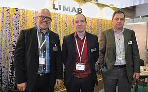 Майкл Персторпер (управляющий директор Dynalyse), Юхо Вирта (управляющий директор Limab), Алексей Лобанов (инженер по проектам Limab)