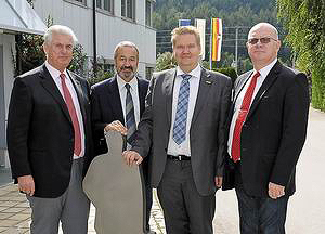 Слева направо: Ханс-Йорг Шпрингер, Хаймо Хуспек, Кари Пуустинен и Тойво Кукк