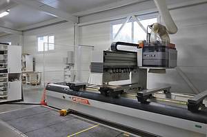 В основе производства – обрабатывающий центр с ЧПУ Busellato JET C20