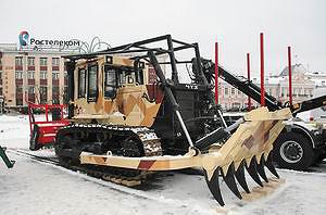 ЧТЗ Б10М с мульчером AHWI M 500